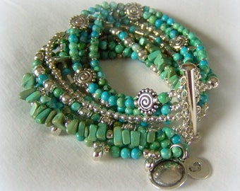 MULTI STRAND BRACELET .... turquoise
