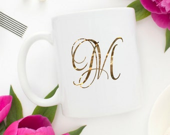 Monogram Mug | Gold Monogram Coffee Mug | Monogrammed Mug | Personalized Coffee Mug | Initial Mug | Monogram Gift | Personalized Gift