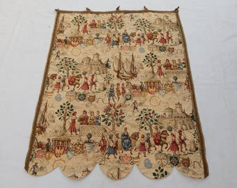 Vintag French Madieval Tapestry (298)