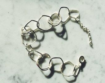 Bracelet en maille fait-main argent sterling kit