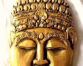 The awakened one wall hanging golden Meditation BUDDHA
