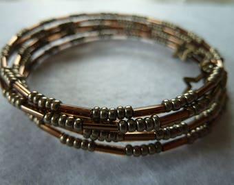 Necklace + Bracelet in silver-bronze