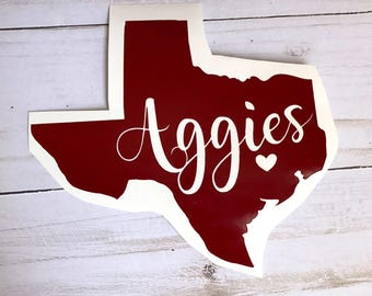 Aggies Decal Etsy
