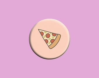 Pizza Pinback Button Badge - 1.24 Inch Button Pin - Junk Food - Fast Food - Pepperoni Pizza - Perfect Gift - Gift for Her