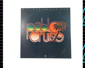 Pablo Cruise - A Place in the Sun LP Record, 1977 Vintage Vinyl Record Album, Rock, Pop Rock