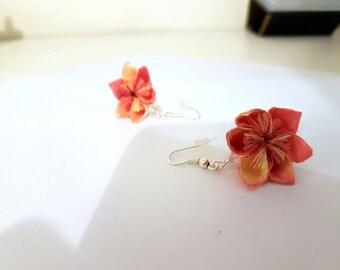 Origami Flower Earrings