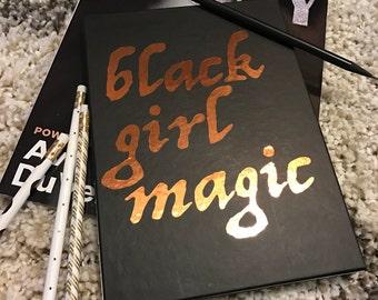 Black Girl Magic lined journal