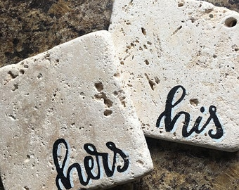 His & Hers Stone Coaster Set