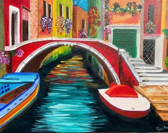 Venice, Italy Acrylic painting 18X24