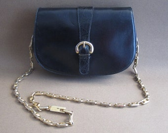 Mini bag pouch Céline vintage black leather and gold chain