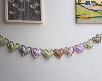 Peter Rabbit Themed Heart Garland
