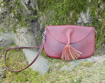60s Pebbled Leather Shoulder Bag