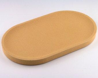 Dark yellow concrete oval Tray / / empty Pocket concrete / / decorative concrete tray / / concrete tray / / cast-iron serving tray