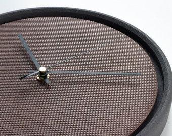 Concrete copper metal wall clock / / concrete antique brass clock / / clock design in concrete / / industrial concrete clock