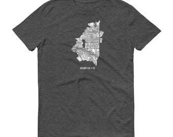 Arlighton Shirt, Arlington TX, Arlington TShirt, Arlington Gift, Arlington Tee, Arlington Map, Texas Shirt, Texas Map, Home Shirt, Travel