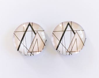 The 'Rae' Glass Earring Studs