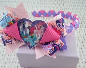Woven Headband Inc Boutique Bow - My Little Pony