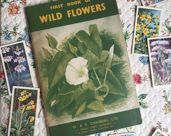 Wild flowers Vintage book, First Book of Wild Flowers, 50's/60's?