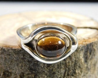 Citrine sterling silver ring size 9