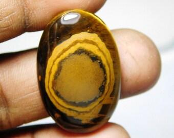 Fabulous. Tiger eye loose gemstone, Tiger eye gemstone, Golden flash Natural tiger eye cabochon, Tiger eye loose stone 34Cts. #79N