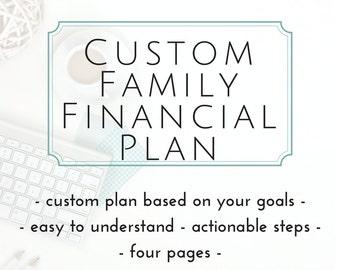 CUSTOM Financial Plan | Home Management | Debt Snowball | Savings Tracker | 2017 | Family Financial Plan | Cash Envelope System |