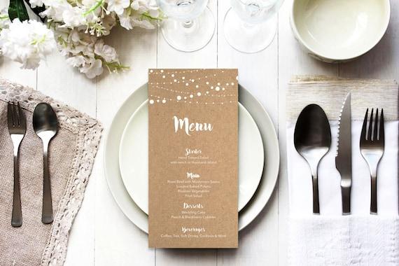 Menu word template_33,table menu, word template, weddings, editable menu card, napkin menu insert,calligraphy
