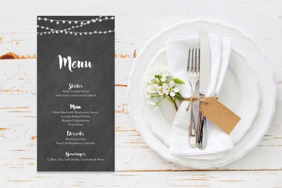 Menu word template_34,table menu, word template, weddings, editable menu card, napkin menu insert,calligraphy