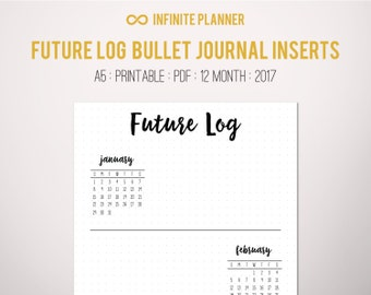 Future Log A5 (2017) - Bullet Journal Printable PDF