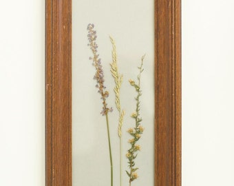 Pressed Flower Art, Wooden Frame, Wild Flowers, Boho, Vintage