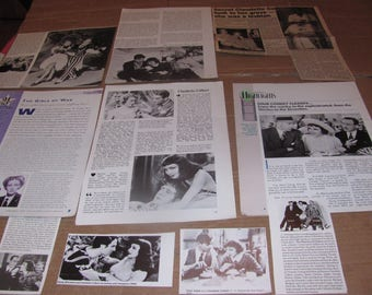 CLAUDETTE COLBERT  #6  CLIPPINGS  #0308