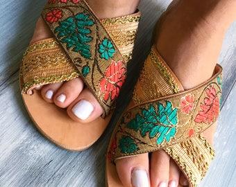 "On sale 20% off, Bohemian sandals ""Ginger"", Greek leather sandals"