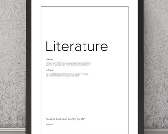 Literature poster | Etsy