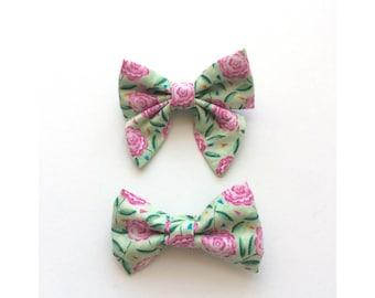 Rose Garden Hair Bow
