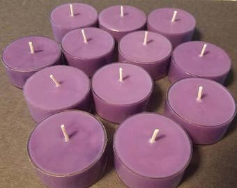 12 Purple Soy Wax Candles