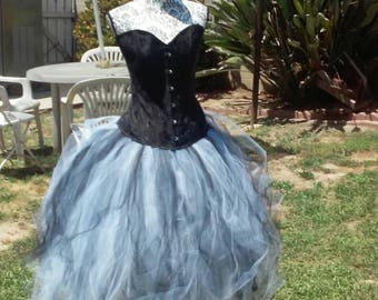 New style steam punk gothic  tulle party dress