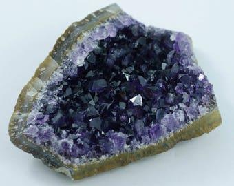 AA Grade Uruguay Amethyst Cluster Geode Plate
