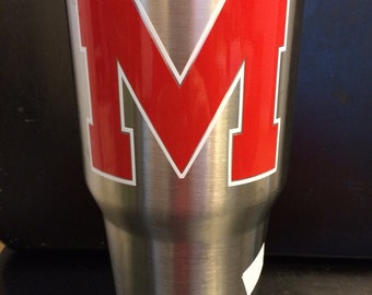 Ole Miss Rebels Ozark Trail 20 oz &  30 oz Tumbler Block M in red NEW Grove Ready Game Ready