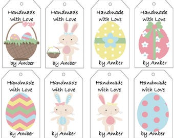 Easter Bunny and Easter Eggs Gift Tags- PDF File
