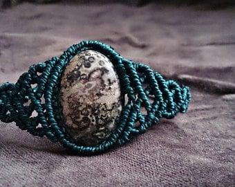 Ocean Jasper Macrame bracelet , Ocean Jasper ,Armband,gift for her, Geschenk für sie,Sexy, Boho Chic,Einzigartig,Trends,Stammes-Hippie
