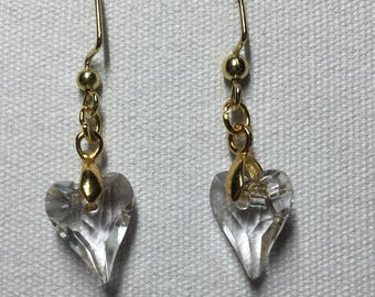 Swarovski wild hearts earrings