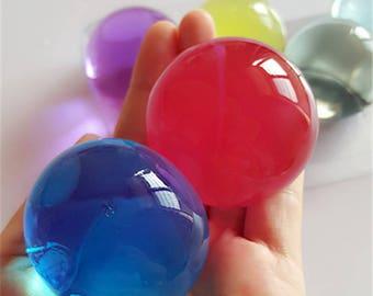 30pcs /lot Large Rosy Hydrogel Pear Shaped Very Big 10-12mm Crystal Soil Water Beads Mud Grow Ball Wedding Orbeez Growing Bulbs