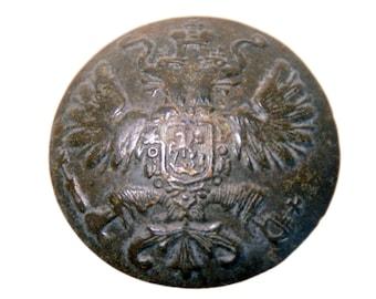 Original WW I Russia Imperial Coat of Arms Uniform Button Collection Militaria