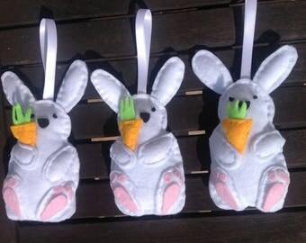 Cute bunny rabbit, Bunny with carrot