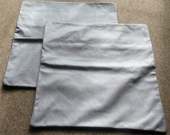 2 x Leather Cushion Covers in 2 Tone Lilac Leather 50cm x 50cm