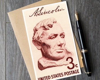 Lincoln, President Lincoln, Abraham Lincoln, US Presidents, Presidents Day, US gift cards, unique gift cards, United States Postage