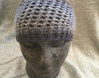 Hand knit skull cap