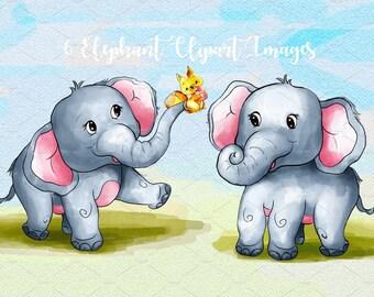 Watercolor Elephant , elephant cliparts, elephant Clipart Images, elephant designs, elephant in a bathtub