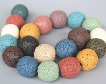 6mm 8mm 10mm 12mm 14mm 16mm 18mm  20mm Lava beads,smooth and round stone beads,lava beads