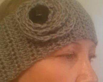 Handmade Women's Headband Button Flower