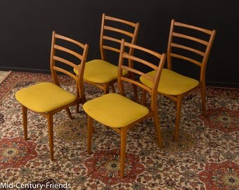 60s dining room chair, Chair, 50's, vintage, mustard (702001)